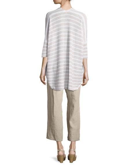 Striped Oversized Cardigan, Natural