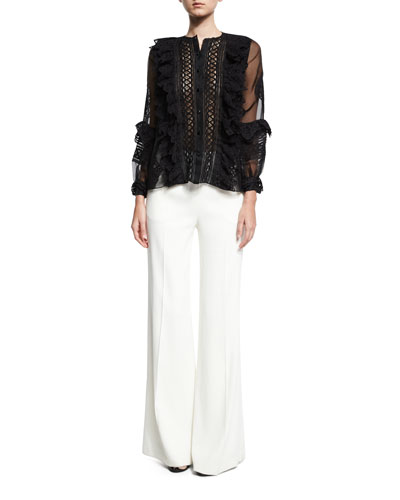 Cady Wide-Leg Pants, White and Matching Items