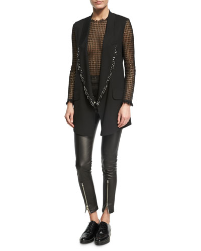 High-Waist Leather Leggings, Black and Matching Items