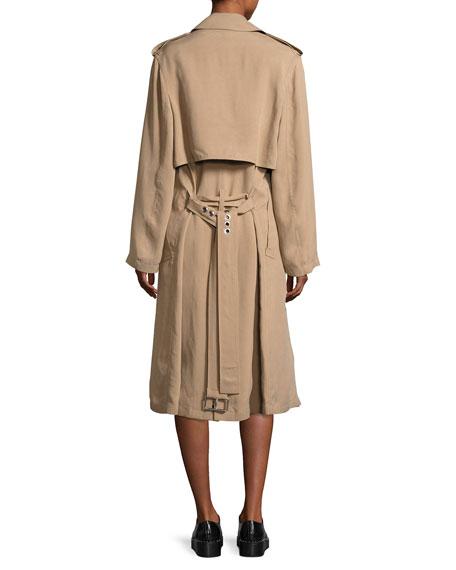 High-Waist Stud-Detail Miniskirt, Black