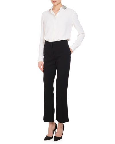 Nettle High-Rise Flare-Leg Pants, Black and Matching Items