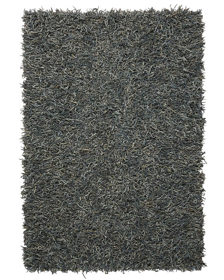 Bohdi Leather Shag Rug, 3' x 5'