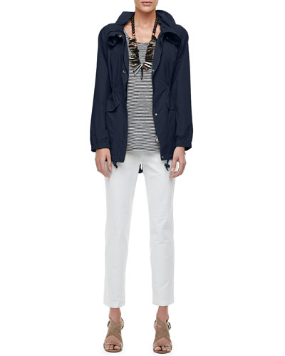 High-Collar Weather-Resistant Utility Jacket  Petite and Matching Items