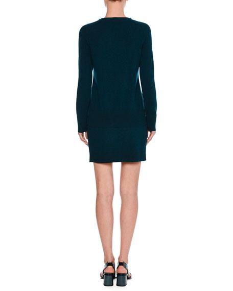 Cashmere Wrap Miniskirt, Blue