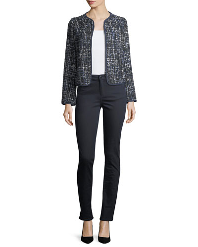 Lurex Tweed Zip-Front Jacket and Matching Items
