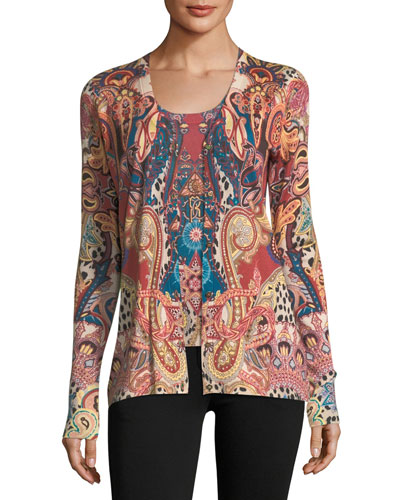 Sherazade Paisley V-Neck Cardigan and Matching Items