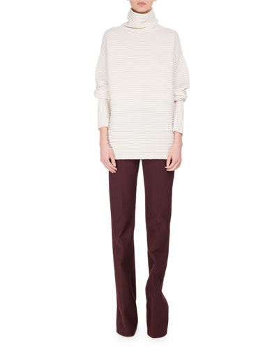 Victoria Paneled Boot-Cut Pants, Red and Matching Items