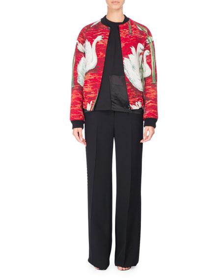 Swan Tapestry Bomber Jacket