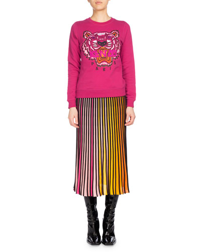 Pleated Jersey Midi Skirt, Multicolor and Matching Items