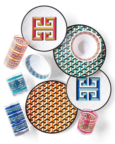 Jonathan Adler Blue Mykonos Melamine Dinnerware & Matching Items ...