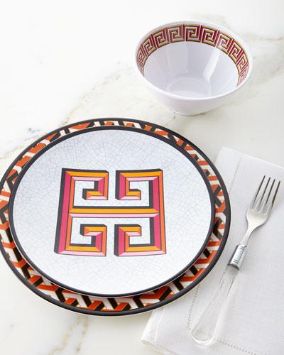 Orange Mykonos Melamine Dinnerware