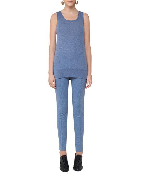 Mara Flat-Front Jersey Pants