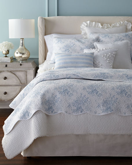 King 3-Piece Rose Toile Quilt Set