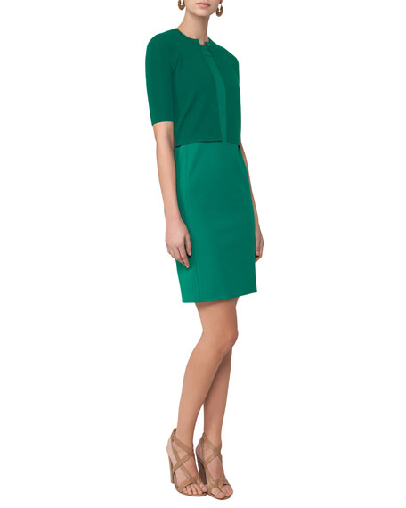 Sleeveless Cutout-Shoulder Sheath Dress