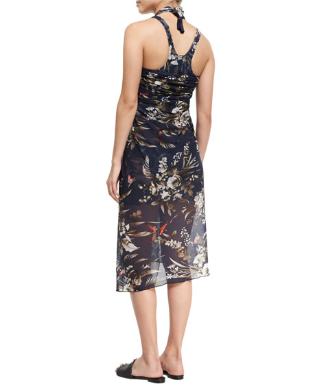 Floral-Print Pareo Coverup, One Size