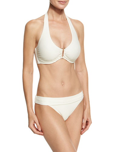 Cote D' Azur U-Bar Halter Swim Top, White (Available in D-G Cup) and Matching Items