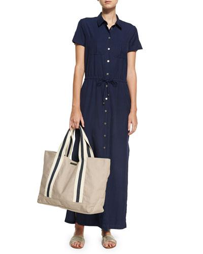Hamptons Maxi Shirtdress, Blue  and Matching Items