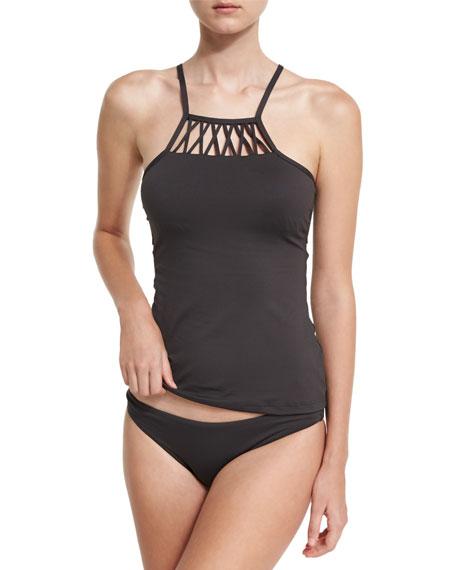 High-Neck Tankini Swim Top
