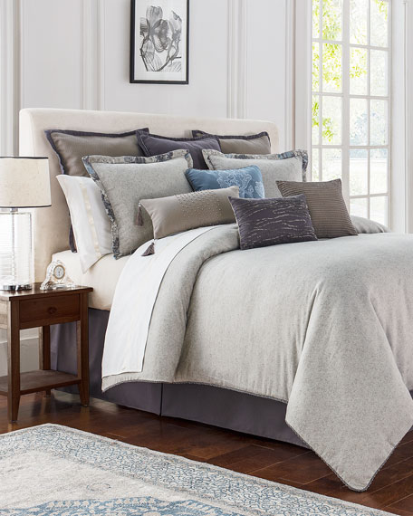 King Blossom Pewter 4-Piece Comforter Set