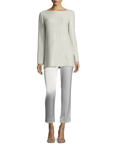 Sparkle Engineered Rib Bateau-Neck Sweater and Matching Items