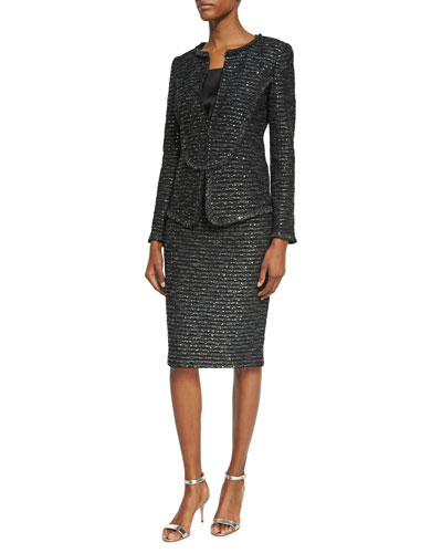 Sparkle Wave Tweed Knit Jacket and Matching Items