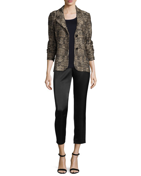 Gilded Geo Tweed Knit Jacket