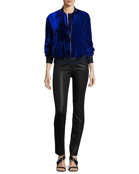 Bardot Coated Denim Slim Jeans, Black