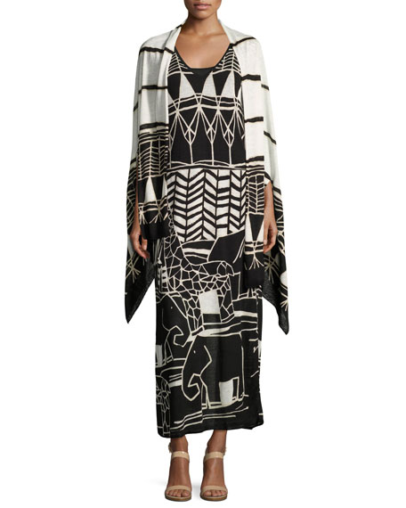 Wild Things Graphic-Print Maxi Dress, Petite