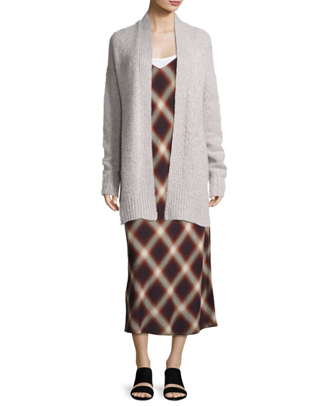 Lofty Wool Cardigan Sweater, White Multi
