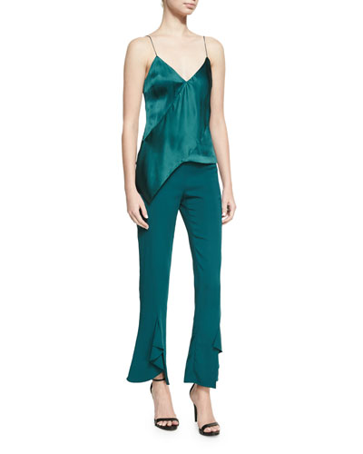 Julianne Tailored Skinny Ruffle-Hem Pants and Matching Items