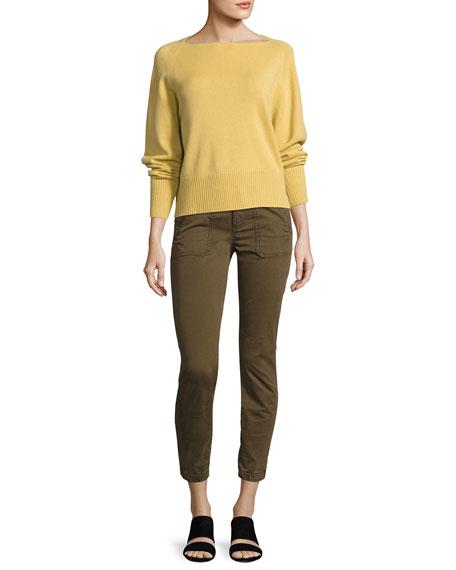 Boat-Neck Pullover Cashmere Sweater