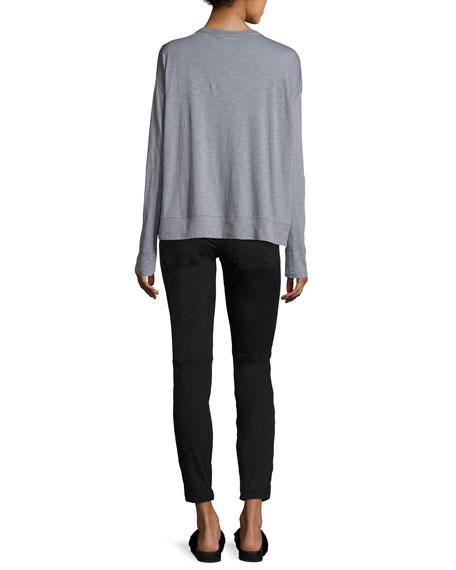 Elastic-Hem Patch-Front Utility Pants