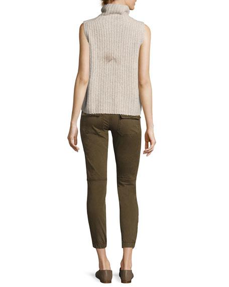 Sleeveless Turtleneck Pullover Sweater