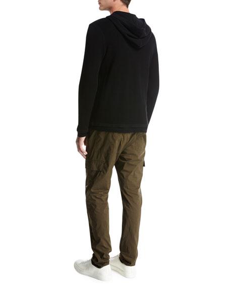 Double-Layer Super Wool Hoodie, Black