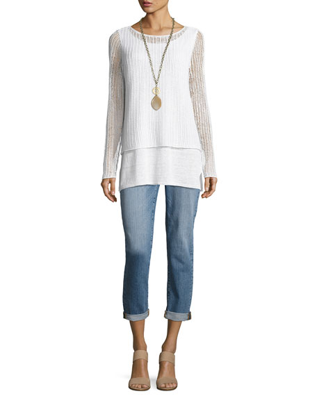 Organic Linen Textured Double Layer Top