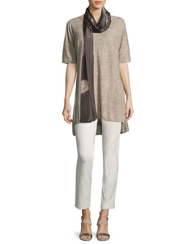 Washable Stretch-Crepe Slim Ankle Pants, Petite and Matching Items