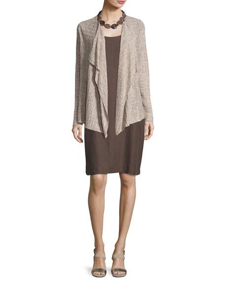 Lightweight Linen Melange Cardigan, Natural