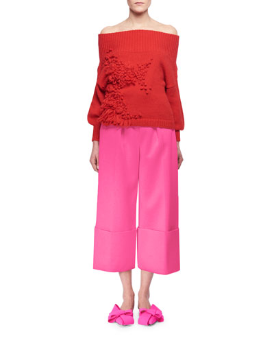 Cuffed Wide-Leg Pants, Blue and Matching Items