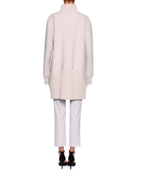 Stretch-Wool Slim Cropped Pants, Light Gray