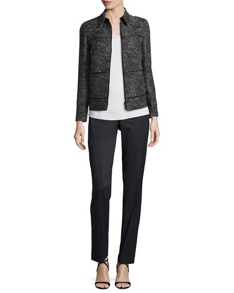 Ryker Zip-Front Deco Woven Jacket, Black Multi