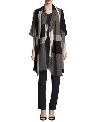 Blocks Georgette Scarf, Multi Black   and Matching Items