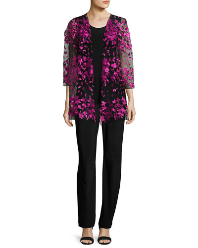 Floral Notes Draped Jacket, Azalea  and Matching Items