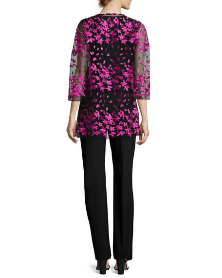 Floral Notes Draped Jacket, Azalea, Petite