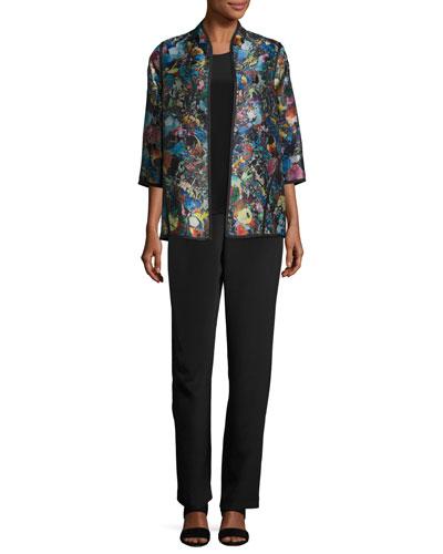 Silk Crepe Straight-Leg Pants and Matching Items