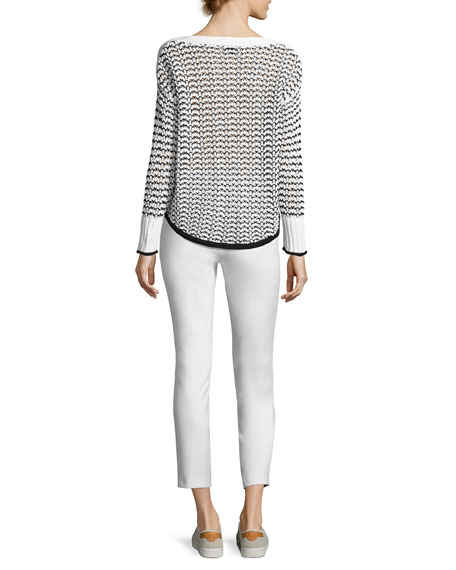 Daniela Cable-Knit Sweater, White