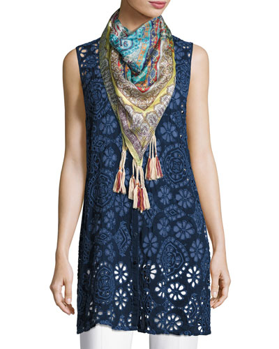 Cotton Modal Scoop-Neck Tank, Navy, Plus Size and Matching Items