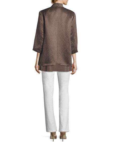 Organic-Linen/Silk Satin Jacket