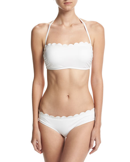 scalloped hipster swim bottom
