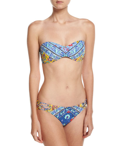 Woodstock Tease Bandeau Swim Top, Blue-Multi and Matching Items
