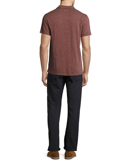 Grant Melange Polo Shirt, Maroon